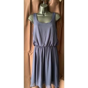 NWT - Simple Navy Dress with V-strap back - M